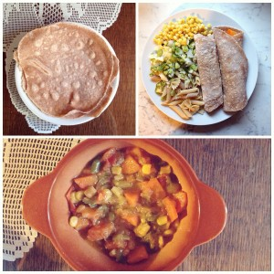 Domače polnozrnate pšenične tortilje z zelenjavnim polnilom 1