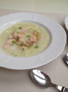 Kremna koromačeva juha z lososom1
