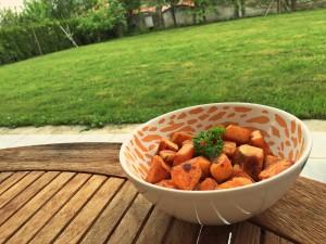 Sladki krompir s hrustljavo skorjico