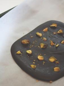 Domača čokolada s pistacijami