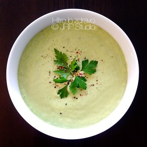 Hladna kumarična juha z avokadom