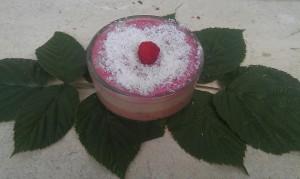 Preprosta malinovo- kokosova presna tortica