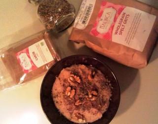 Pirov zdrob z rožičem, orehi in konopljini semeni 2